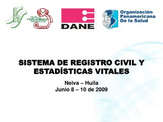 SISTEMA DE REGISTRO CIVIL Y  ESTAD�STICAS VITALES