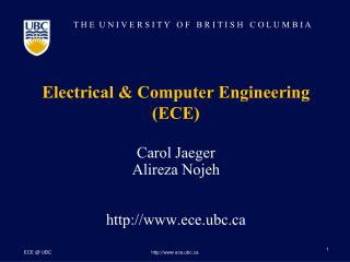 Electrical & Computer Engineering (ECE)