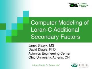 Computer Modeling of Loran-C Additional Secondary Factors