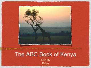 The ABC Book of Kenya