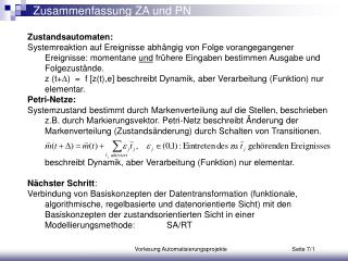 Zusammenfassung ZA und PN