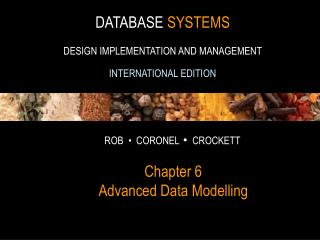 Chapter 6 Advanced Data Modelling