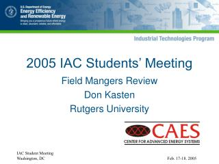 2005 IAC Students� Meeting