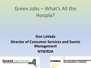 Green Jobs – What's All the Hoopla?