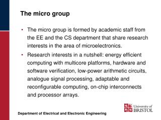 The micro group