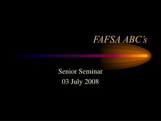 FAFSA ABC�s