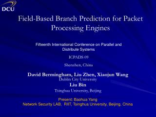 Field-Based Branch Prediction for Packet Processing Engines