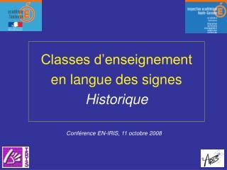 Conférence EN-IRIS, 11 octobre 2008