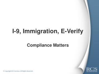 I-9, Immigration, E-Verify