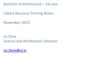 To find the subject portal for Architecture..