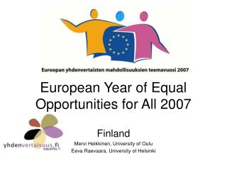 European Year of Equal Opportunities for All 2007