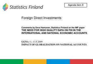 GGNA  11.-13.5.2009  IMPACT OF GLOBALISATION ON NATIONAL ACCOUNTS