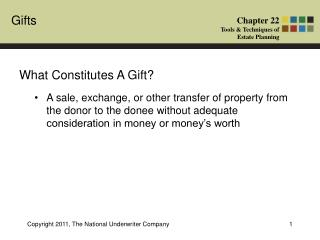 What Constitutes A Gift?