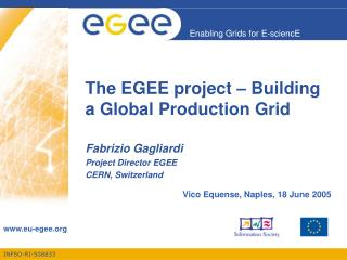 The EGEE project – Building a Global Production Grid