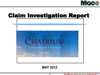 Claim Investigation Report