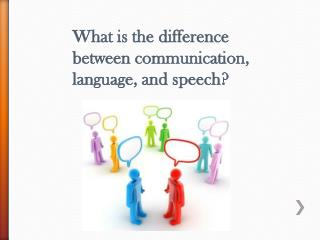 What is the difference between communication, language, and speech?