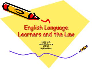 English Language Learners and the Law
