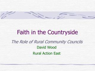 Faith in the Countryside