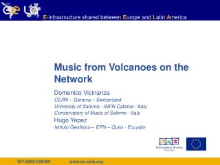 Music from Volcanoes on the Network