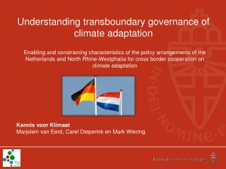 Understanding transboundary governance of climate adaptation