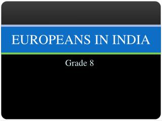 EUROPEANS IN INDIA