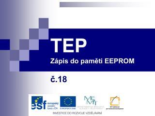 TEP Zápis do paměti EEPROM