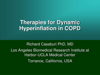 Therapies for Dynamic Hyperinflation in COPD