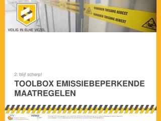 toolbox  Emissiebeperkende maatregelen