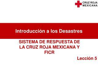 Introducci�n a los Desastres
