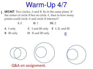 Warm-Up 4/7