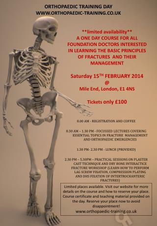 ORTHOPAEDIC TRAINING DAY WWW.ORTHOPAEDIC-TRAINING.CO.UK