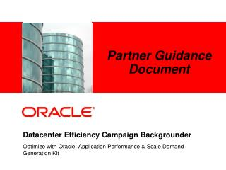 Datacenter Efficiency Campaign Backgrounder