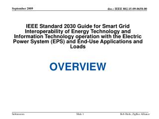 IEEE P2030 – Working Group Officers