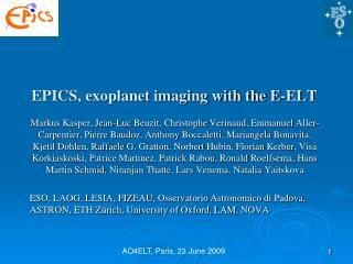 EPICS, exoplanet imaging with the E-ELT
