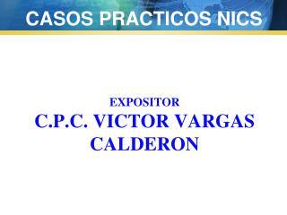 EXPOSITOR C.P.C.  Victor VARgas  CALDERON