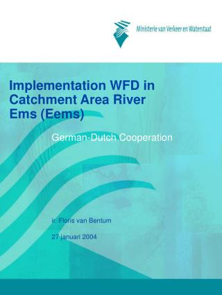 Implementation WFD in Catchment Area River Ems (Eems)