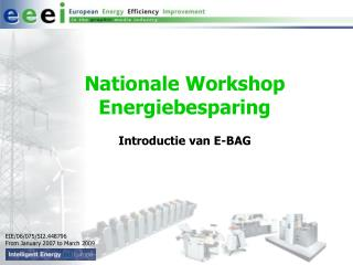 Nationale Workshop Energiebesparing