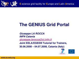 The GENIUS Grid Portal