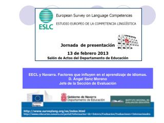 EECL y Navarra. Factores que influyen en el aprendizaje de idiomas. D. Ángel Sanz Moreno