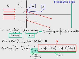Fraunhofer: 1 pilu
