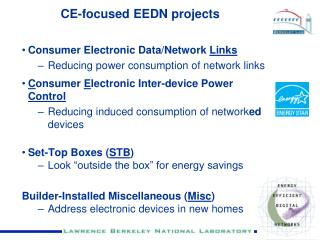 CE-focused EEDN projects