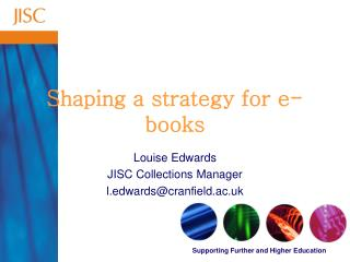 Shaping a strategy for e-books