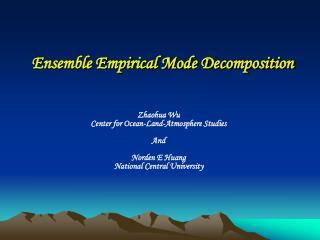 Ensemble Empirical Mode Decomposition