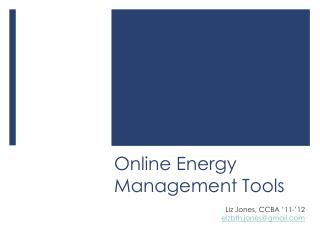 Online Energy Management Tools