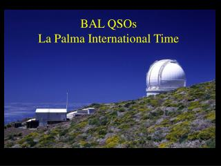 BAL QSOs  La Palma International Time