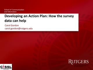 Developing an Action Plan: How the survey data can help