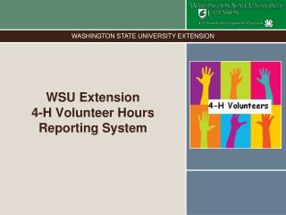 WSU Extension  4-H Volunteer Hours Reporting System