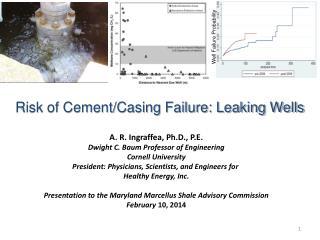 A. R.  Ingraffea , Ph.D., P.E. Dwight C. Baum Professor of Engineering Cornell University