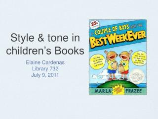 Style & tone in children's Books