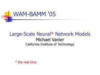 WAM-BAMM '05
